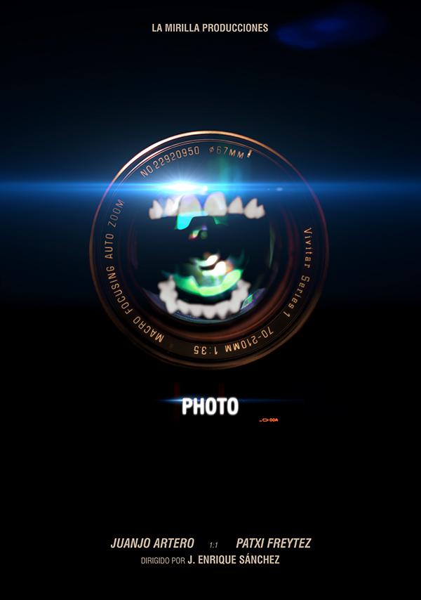 poster  Shortfilm  afiche lens camera Mouth horror film poster