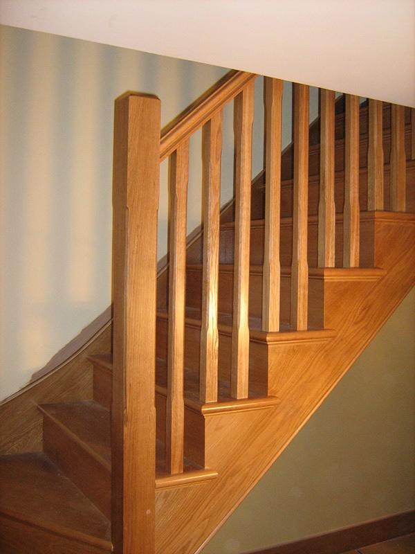 Staircase oak hardwood bespoke Joinery Carpentry glass Baluststrading Oak Staircase