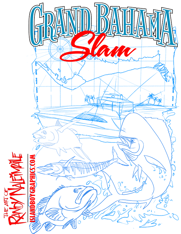 T shirt design for a fishing tournament in the bahamas on for Fishing shirt designs