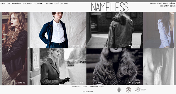 nameless brand shop sklep store clothes slovakia słowacja Web
