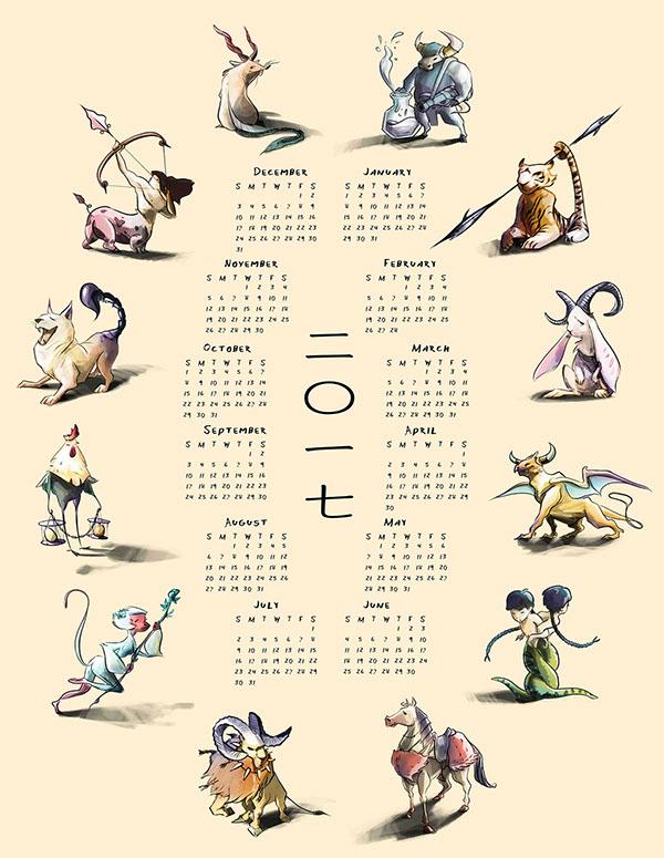Character Design Monthly : Calendar on risd portfolios