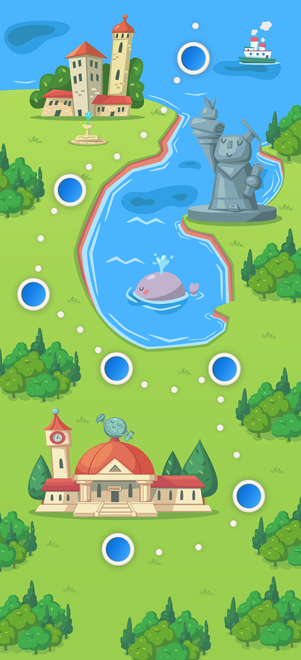 Dr Newton Mobile Game World Map On Behance