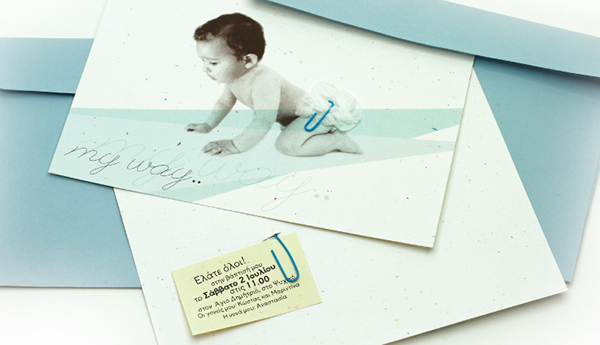 my way baby christening invitation on behance