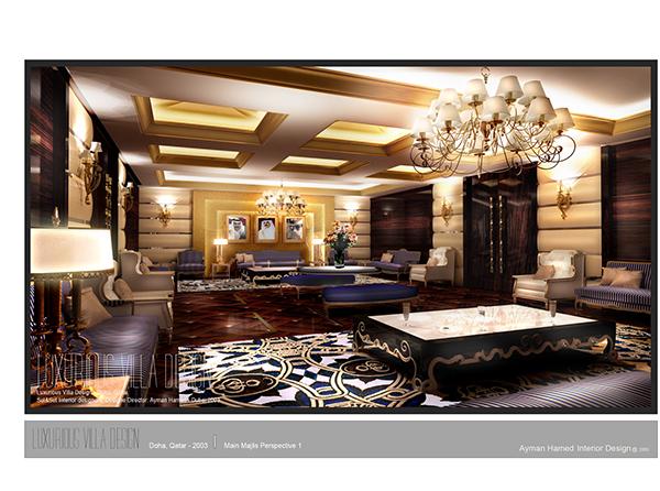 LUXURIES VILLA Interior Design Doha QATAR