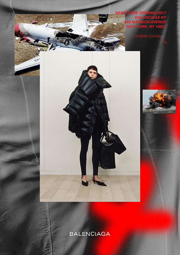 Balenciaga new store opening posters on student show for Balenciaga new york store