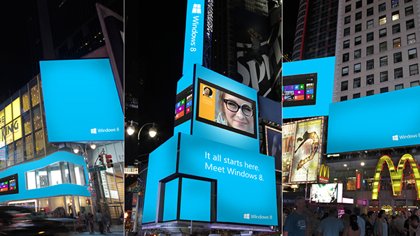 Meet Windows 8 - Times Square Digital Out of Home on Behance