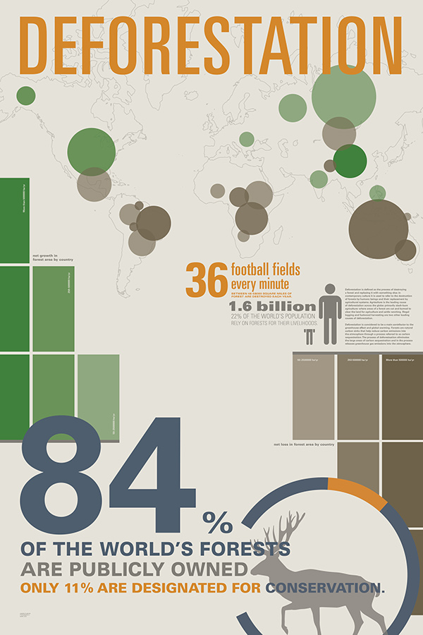 Infographic Poster About Global Deforestation