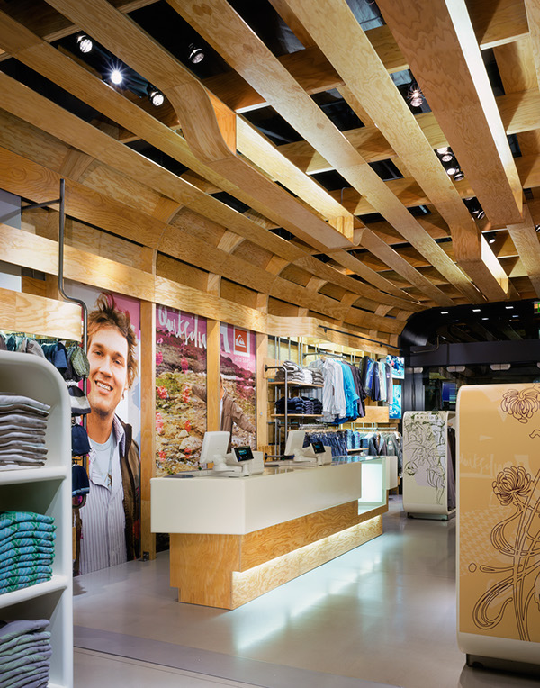 Quiksilver Young Men's Interior Store Design by Clive Wilkinson  5ca46c6b1ac3cf23375df3e8bf940ff2