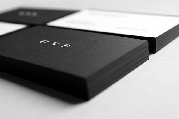 grammage business card Black&white minimal design Giacomo Vincenzo Sparacio gvsdesigner.com design gvs