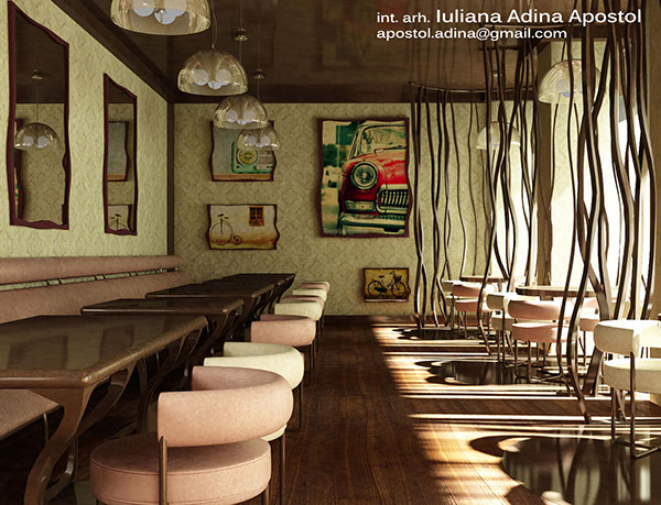 Restaurant Interior Design Proposal : Restaurant proposal quot calea dorobanților on behance