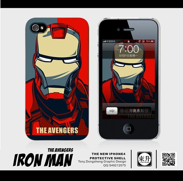 iPhone保护套 英雄 蝙蝠侠 蜘蛛侠 硬骨头