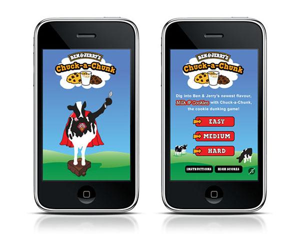 Ben & Jerry's, ice cream, cookies,milk, dunk,Chuck,chunk,mobile,app,game,ice cream,cookies,DUNK