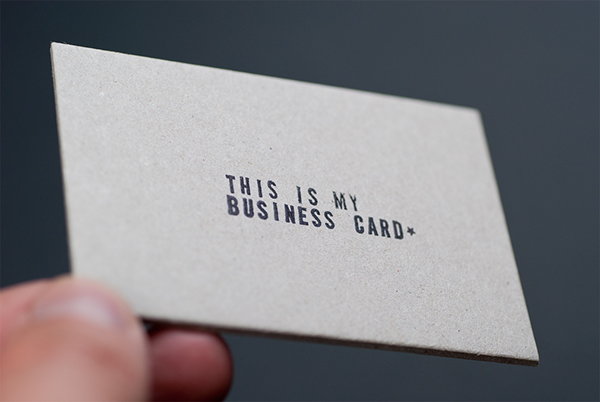 Self promotion business card on behance strip everything back to the basics use standard font on thick uncoated standard stock all to make a very non standard business card reheart Image collections