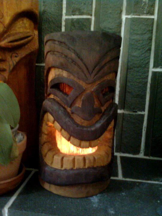 Tiki head lantern on behance