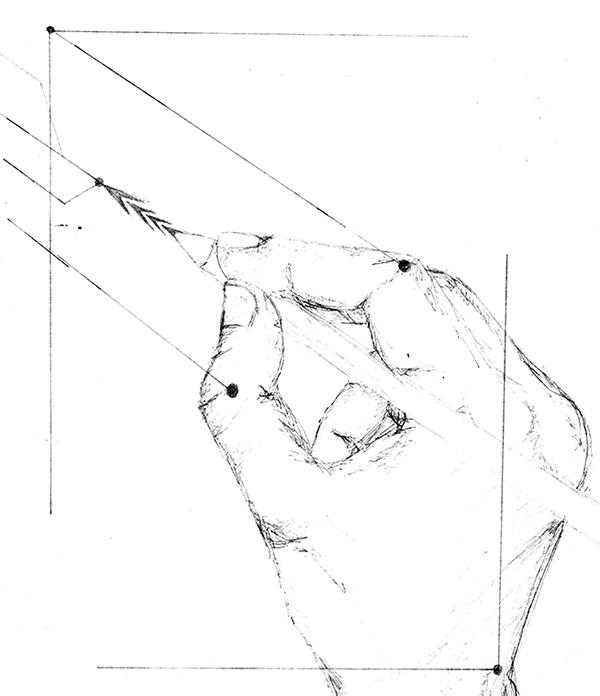 sketch hands eye geometry organic