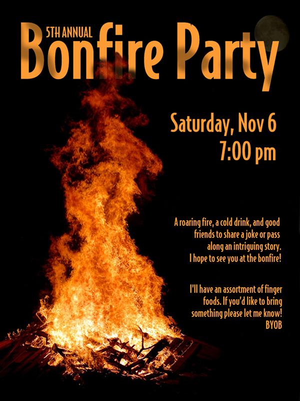Bonfire Party Invitations is nice invitations design