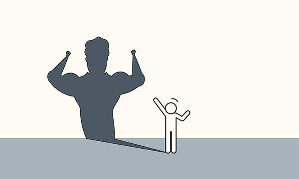Business illustration with stickman