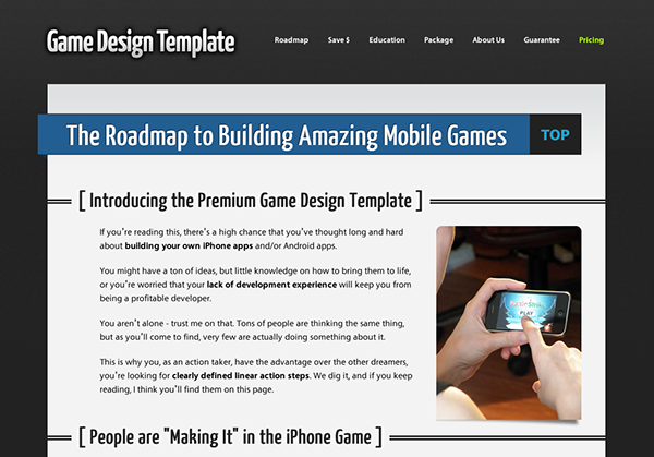 Game Design Template on Behance