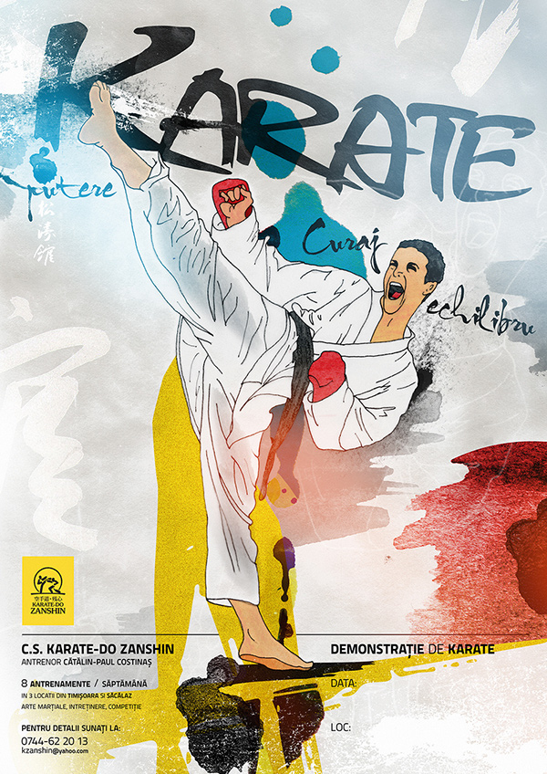 zanshin karate poster on behance
