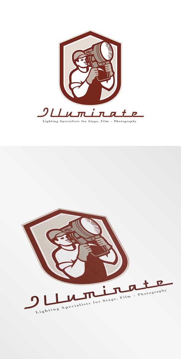 illuminate lighting specialists logo on behance