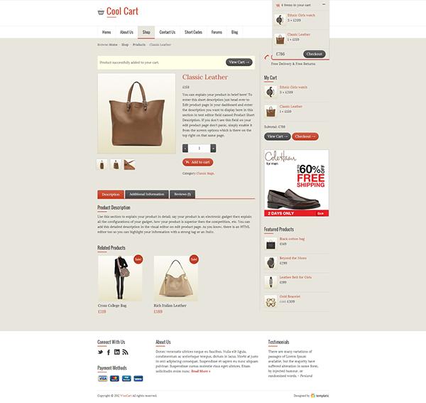 Cool Cart, eCommerce WordPress Theme UI/UX & Coding