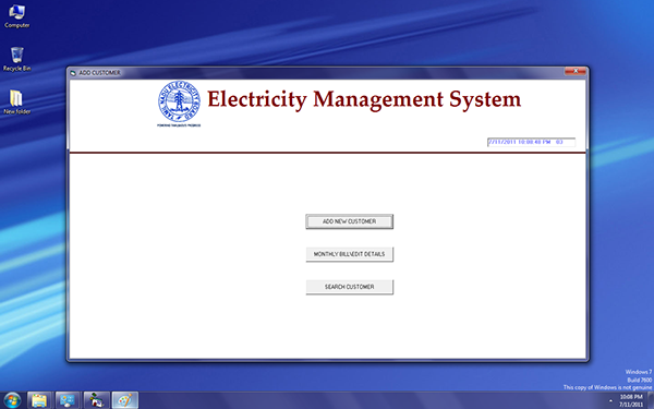 electricity billing system in vb 6 0 picture on behance