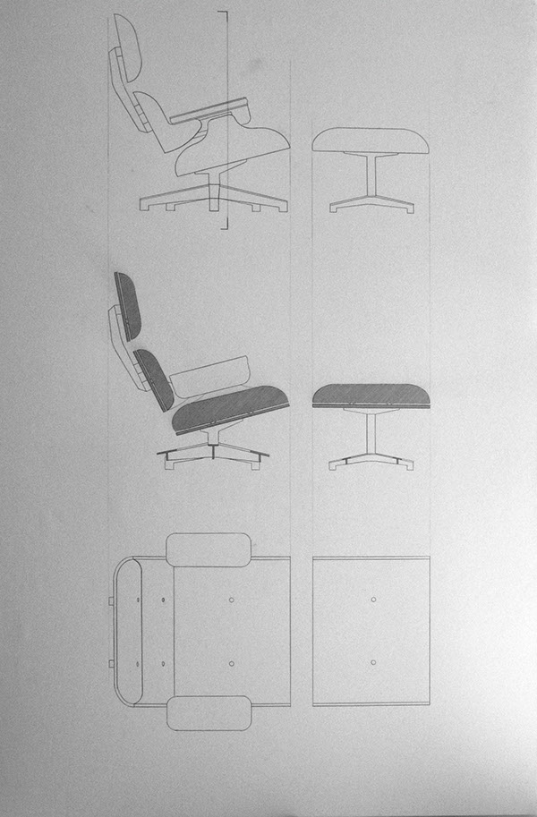 Eames Lounge Chair Ottoman On Behance