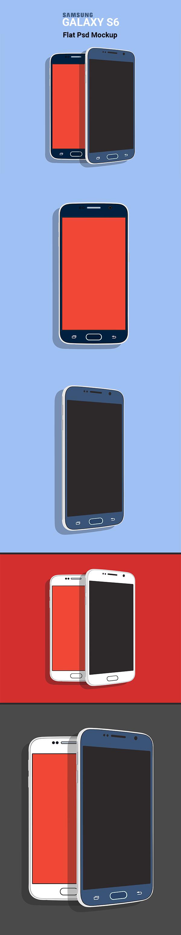 Samsung Galaxy s6 Galaxy S6 PSD psd free Flat PSD Mockup flat psd S6 Flat PSD Galaxy S6 Mockup