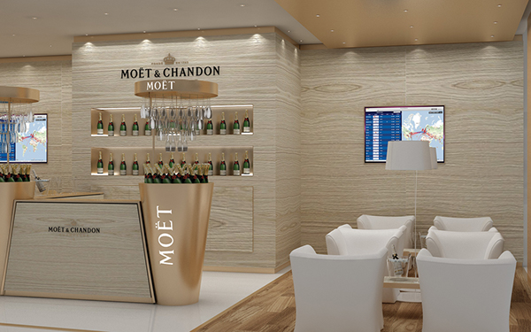 Exhibition Stand Modules : Moet champagne corner bar dubai airport on behance