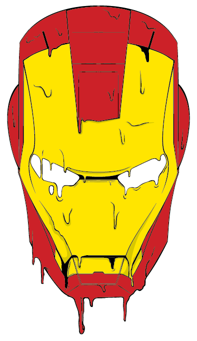 melting iron man mask - photo #19