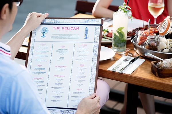 restaurant Hospitality singapore menu design signage design Space design Business card design