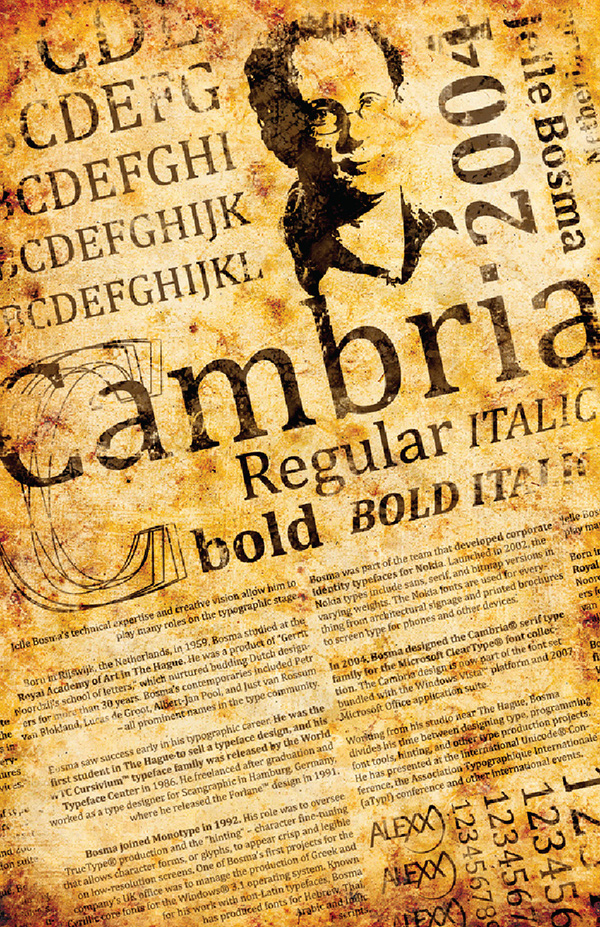 Cambria Typeface Poster on Behance
