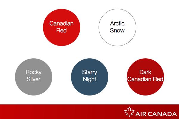 airline brand identity concept gradient logo Canada modern airplane Air Canada