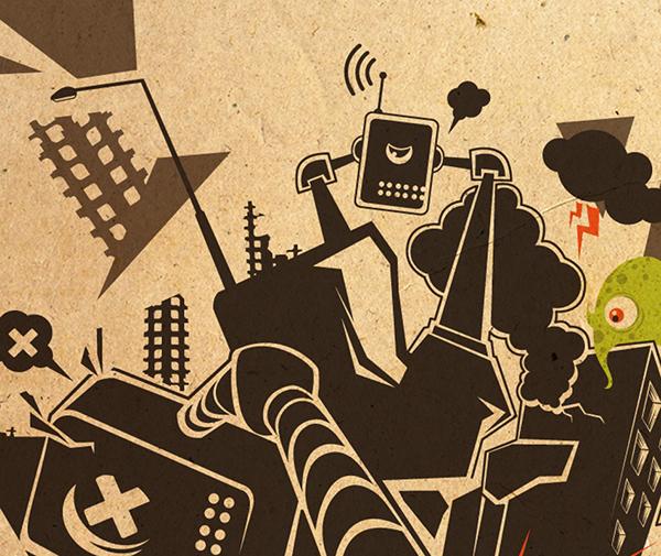 robots kirpluk monsters vectors Style stylish tees t-shirt T-Shirt Design