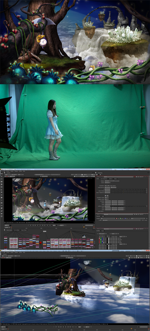 Nuke 3D & Green Screen on SVA Portfolios