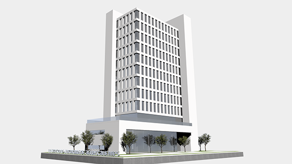 edificio administrativo uaa 3d arquitect nico on behance