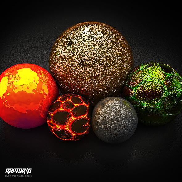 FREE CINEMA 4D MATERIAL PACK V2 on Behance