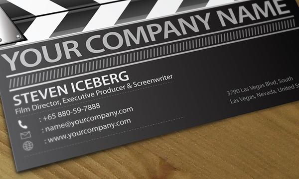 Film director creative business card design on Behance
