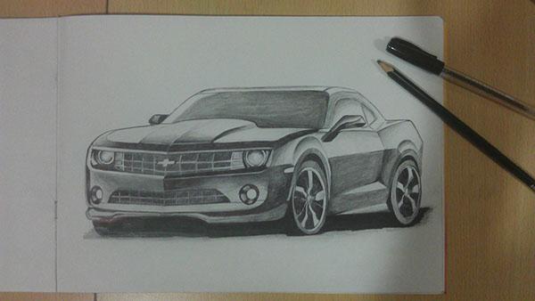 Chevrolet Camaro Drawing On Behance