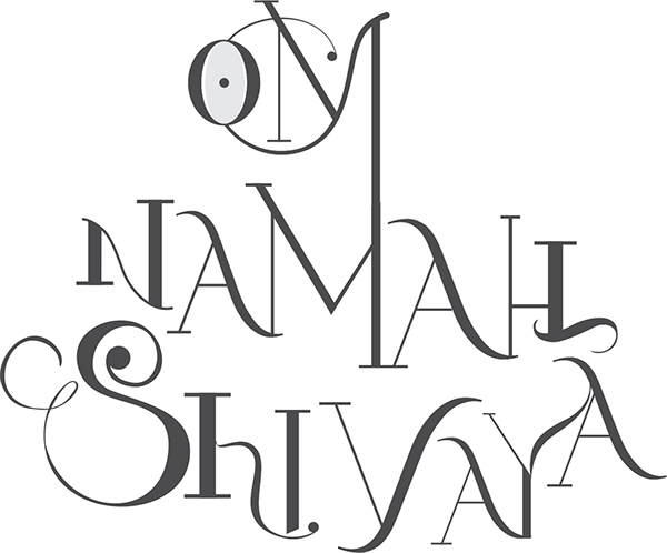om namah shivaya typography on behance
