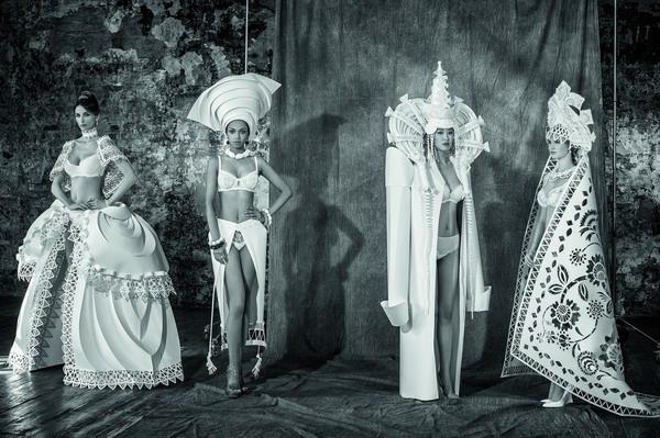 underwear paper bride paper cut paper art wedding cutting Ethnic costume