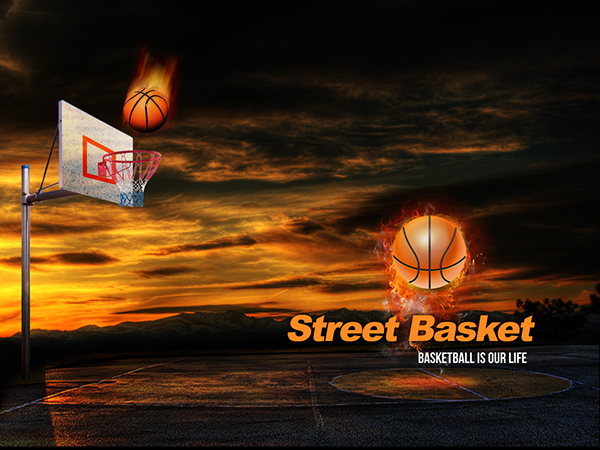 free street basketball powerpoint presentation template on behance. Black Bedroom Furniture Sets. Home Design Ideas