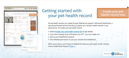 webvet pet health records on behance