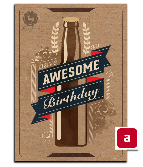 HBD Men Greeting cards on Behance – Men Birthday Cards