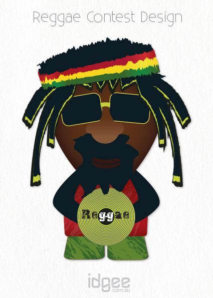 reggae International poster design graphic contest