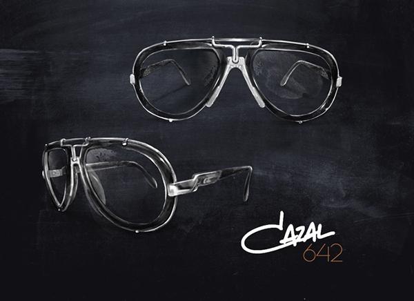 cazal  Cari Zalloni  Cazal 642 Vintage Sunglasses portrait black and white