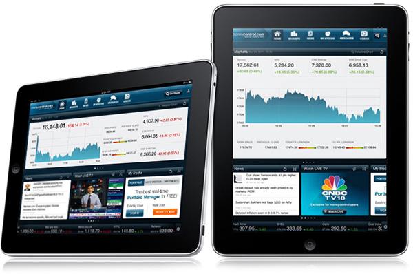 moneycontrol com - iPad app on Pantone Canvas Gallery