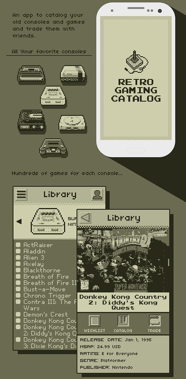 Retro Gaming Catalog App on Behance