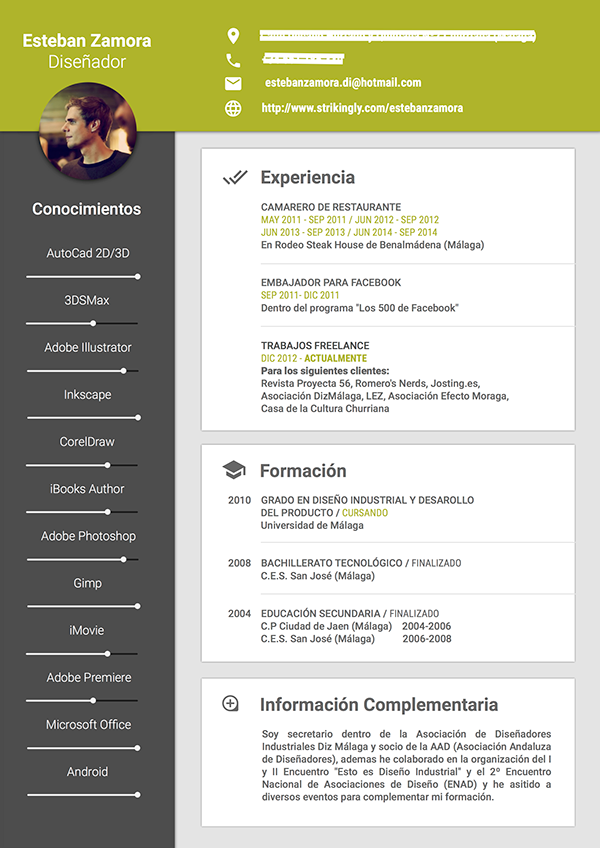 Cv Resume Material Design On Behance