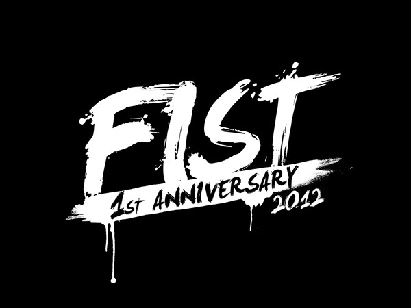 Fist: shirt design mural and ring painting of logo on behance